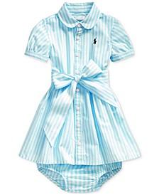 Baby Girls Bengal-Stripe Shirtdress