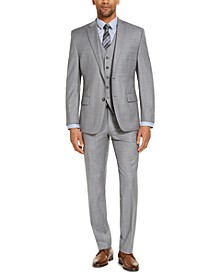 CLOSEOUT! Men's Classic-Fit Airsoft Stretch Gray Solid Suit Separates
