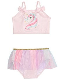 Toddler Girls 2-Pc. Unicorn Tutu Tankini