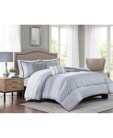 Bennett Grey Cal King 9-Pc. Comforter set