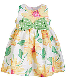 Bonnie Baby Baby Girls Floral-Print Dress