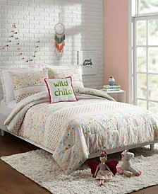 Whimsical Paisley 4-Piece Full/Queen Comforter Set