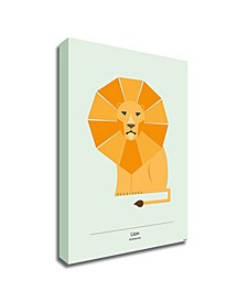 Lion by Tomas Design Print on Canvas