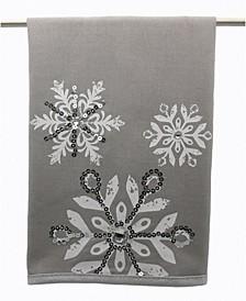 Glistening Snow Christmas Tea Towel