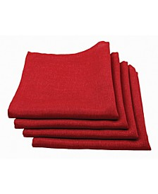 Gala Glistening Easy Care Solid Color Napkins - Set of 4