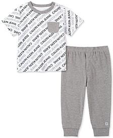 Baby Boys 2-Pc. Logo-Print T-Shirt & Jogger Pants Set