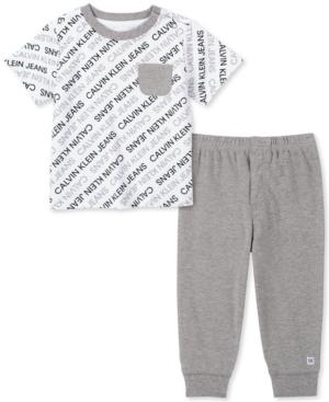 Calvin Klein Baby Boys 2-Pc. Logo-Print T-Shirt & Jogger Pants Set