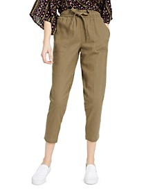 Juniors' Cropped Pull-On Pants