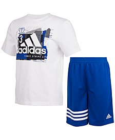 Little Boys Adi 2-Pc. Logo T-Shirt & Shorts Set