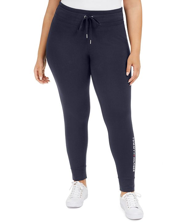 Tommy Hilfiger Plus Size Logo-Print Leggings