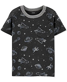 Toddler Boys Gray Space Pocket T-Shirt
