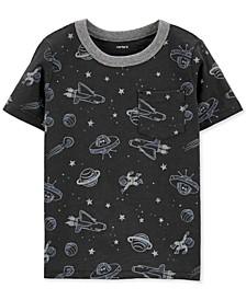 Toddler Boys Gray Space Pocket T-Shirt