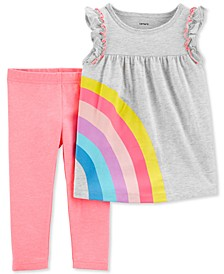 Baby Girls 2-Pc. Rainbow Tunic & Leggings Set