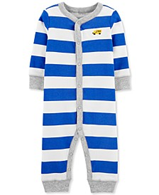 Baby Boys 1-Pc. Striped Truck Cotton Sleep & Play