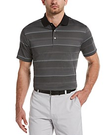 Men's Diagonal-Stripe Golf Polo