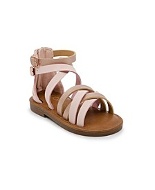 Toddler & Little Girls Multi Strap Gladiator Sandal