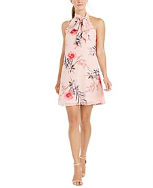 Floral-Print Bow Shift Dress