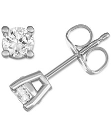 Lab Created Diamond Stud Earrings (1/2 ct. t.w.) in Sterling Silver