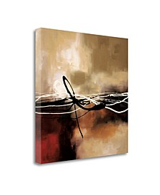 Symphony In Red and Khaki II by Laurie Maitland gale on Gallery Wrap Canvas