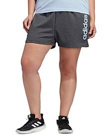 Plus Size Logo Shorts