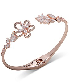 Crystal Flower Hinge Bracelet