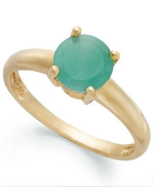 Victoria Townsend 18k Gold over Sterling Silver Ring, Emerald May Birthstone Ring (1-1/2 ct. t.w.)