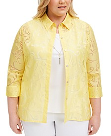 Plus Size Spring Lake Layered-Look Necklace Top