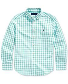 Big Boys Gingham Cotton-Blend Shirt