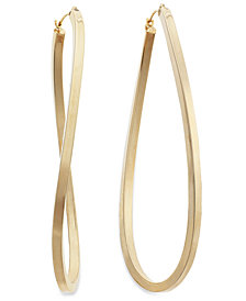 Figure 8 Hoop Earrings in 14k Gold Vermeil, 60mm