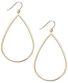 14k Gold Vermeil Earrings, Teardrop Dangle Earrings
