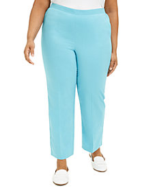 Alfred Dunner Plus Size Sea You There Pull-On Pants