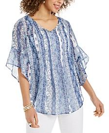 Paisley-Print Pintuck Blouse, Created for Macy's