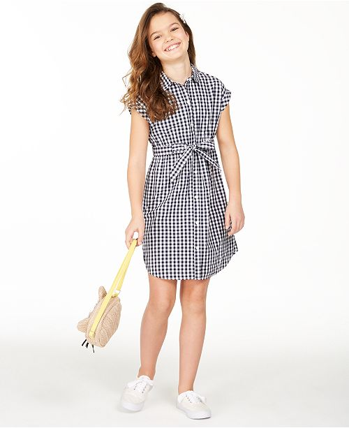 Charter Club Big Girls Mommy & Me Gingham Dress, Created for Macy's