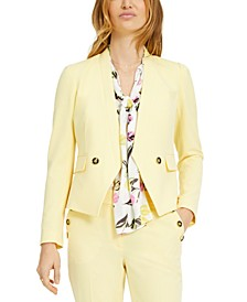 Collarless Faux-Double-Breasted Jacket, Created for Macy's