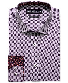 Men's Modern-Fit Printed Tile Dress Shirt