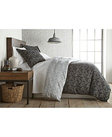 Circle and Swirls Ultra Soft Duvet Cover and Sham Set, Twin