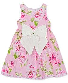 Toddler Girls Floral Bow Dress