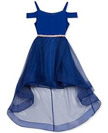 Big Girls Cold-Shoulder High-Low Dress