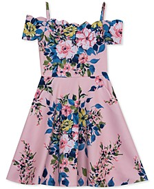 Big Girls Scalloped Floral Skater Dress