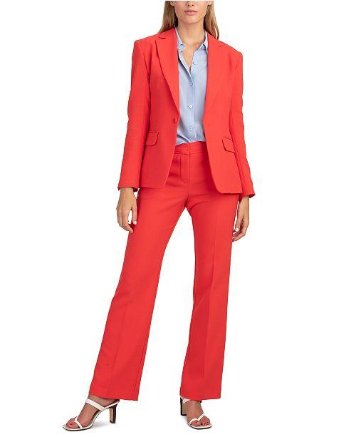 Trina Turk Pistache One-Button Blazer
