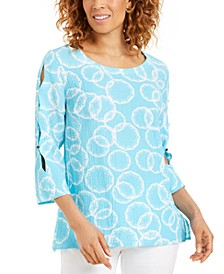 Amalfi Printed Split-Sleeve Top, Created for Macy's