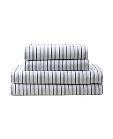 MHF Home Kids All Star Striped Twin Sheet Set