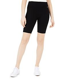 High-Waist Ribbed Bike Shorts