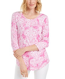 Petite Paisley-Print Top, Created for Macy's