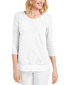 Textured Center-Hem Top, Created for Macy's