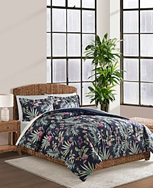 Cathrina Navy 3-Pc. Comforter Set