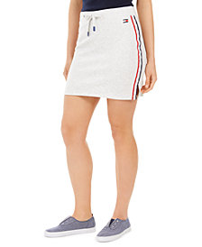 Tommy Hilfiger Sport Logo Side-Stripe Skirt