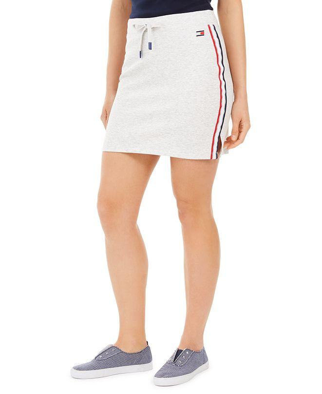 Tommy Hilfiger Logo Side-Stripe Skirt