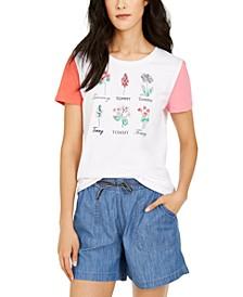 Cotton Botanical Graphic T-Shirt