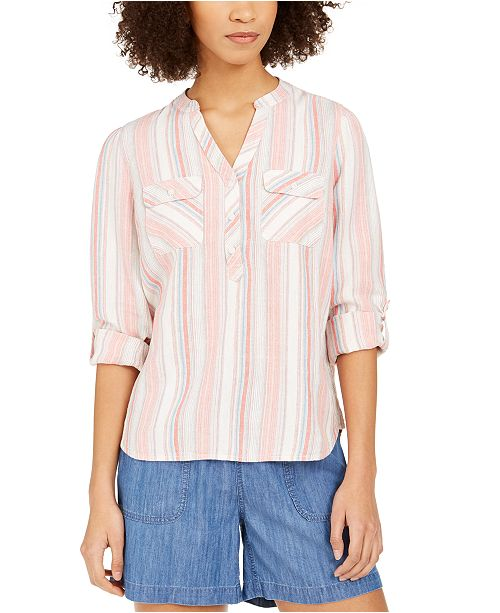 Tommy Hilfiger Striped Henley Top